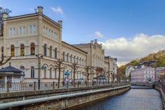 El río Tepla en Karlovy varía, República Checa Fotos de archivo libres de regalías