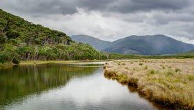 El río Tidal en parque nacional del promontorio de Wilsons Fotografía de archivo