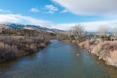 El río Truckee Imágenes de archivo libres de regalías