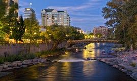 El río Truckee en Reno Imagen de archivo libre de regalías
