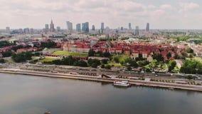 El río Vistula, Polonia almacen de metraje de vídeo