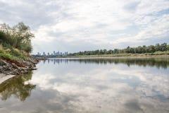 El río Vistula Varsovia Imágenes de archivo libres de regalías