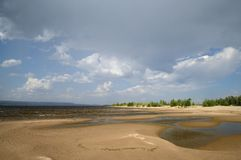 El río Volga fotografía de archivo