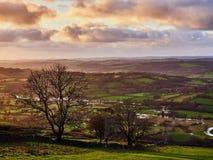 El río y el valle de Teifi cerca de Llandewi Brefi País de Gales Foto de archivo