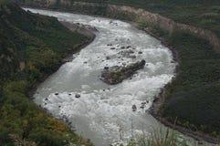 El río Yarlung Zangbo Imágenes de archivo libres de regalías