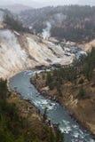 El río Yellowstone Imágenes de archivo libres de regalías