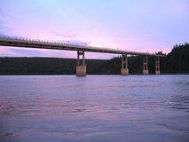 El río Yukón Fotos de archivo libres de regalías