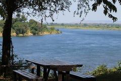 El río Zambezi Foto de archivo