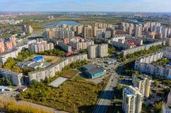 El 1r distrito residencial de Zarechny Tyumen Rusia Fotografía de archivo