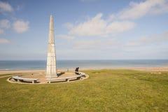 El 1r monumento de la división de infantería cerca de Omaha Beach, Normandía - Imágenes de archivo libres de regalías