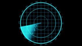 El radar sreen la exhibición ilustración del vector