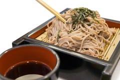 El ramen de Soba es tallarines del alforfón, comida del estilo japonés Imagen de archivo libre de regalías