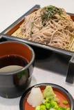 El ramen de Soba es tallarines del alforfón, comida del estilo japonés Imágenes de archivo libres de regalías