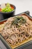 El ramen de Soba es tallarines del alforfón, comida del estilo japonés Fotografía de archivo libre de regalías