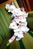 Ramo de la boda de la orquídea del primer Fotos de archivo libres de regalías