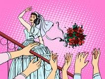 El ramo de la novia de la boda florece a la mujer de la dama de honor Fotografía de archivo libre de regalías