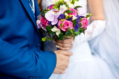El ramo de los pares y de la boda Fotos de archivo libres de regalías