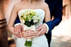 El ramo de los pares y de la boda Imágenes de archivo libres de regalías