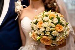 El ramo de los pares y de la boda Fotografía de archivo libre de regalías