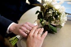 El ramo de los pares y de la boda Imagen de archivo libre de regalías