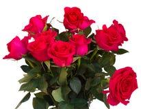 El ramo de rosas rosadas oscuras se cierra para arriba Fotos de archivo libres de regalías