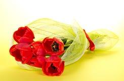 El ramo de tulipanes rojos imágenes de archivo libres de regalías