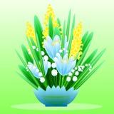 El ramo delicado de bosque de la primavera florece para su diseño Foto de archivo libre de regalías