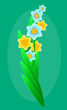 El ramo delicado de bosque de la primavera florece para su diseño Fondo floral Vector Imagenes de archivo