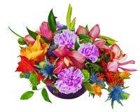 El ramo floral de orquídeas, de gladiolos y de claveles aisló o Imagen de archivo