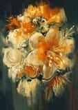 El ramo florece la pintura Foto de archivo libre de regalías