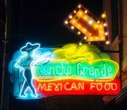 El Rancho Grande, Neon Sign. Route 66. royalty free stock photos