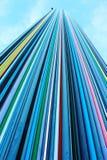 El rascacielos colorido en la defensa Imagen de archivo libre de regalías
