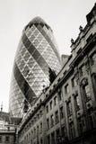 El rascacielos de Londres, 30 St Mary Axe también llamó a Gherkin Fotografía de archivo