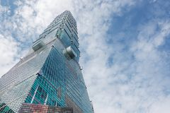 El rascacielos de Taipei 101 en Taipei, el edificio alineó los mundos más altos a partir de 2004 hasta el 2010 fotos de archivo