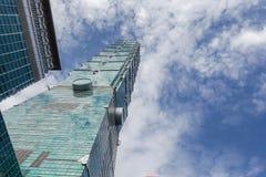 El rascacielos de Taipei 101 en Taipei, el edificio alineó los mundos más altos a partir de 2004 hasta el 2010 fotos de archivo libres de regalías