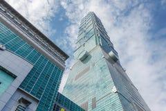 El rascacielos de Taipei 101 en Taipei, el edificio alineó los mundos más altos a partir de 2004 hasta el 2010 fotografía de archivo