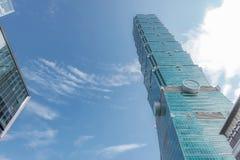 El rascacielos de Taipei 101 en Taipei, el edificio alineó los mundos más altos a partir de 2004 hasta el 2010 foto de archivo libre de regalías