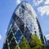 El rascacielos del pepinillo en Londres Fotografía de archivo libre de regalías