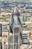 El rascacielos del pepinillo en Londres Fotos de archivo libres de regalías