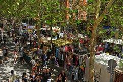 El Rastro跳蚤市场在马德里,西班牙 免版税图库摄影