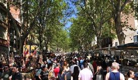 El Rastro跳蚤市场在马德里,西班牙 免版税库存照片