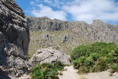 El rastro del valle de Boquer, Majorca Fotografía de archivo libre de regalías