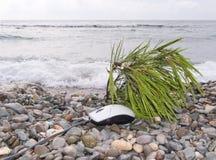 El ratón del ordenador en una playa Imagen de archivo