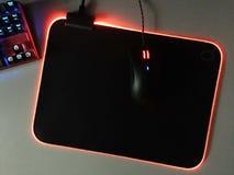 El ratón del ordenador para los videojugadores, puede ser utilizado en juegos y en un de computadora personal detalles fotografía de archivo libre de regalías