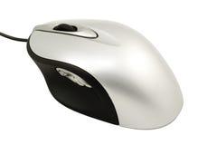 El ratón del ordenador plateado Fotos de archivo