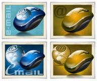 El ratón estampa el email Imagen de archivo libre de regalías