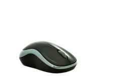 El ratón inalámbrico negro Fotografía de archivo libre de regalías