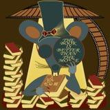 El ratón oculto con el libro es mejor que la película Foto de archivo