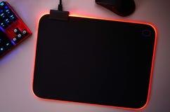 El rat?n del ordenador para los videojugadores, puede ser utilizado en juegos y en un de computadora personal Detalles y primer fotografía de archivo libre de regalías