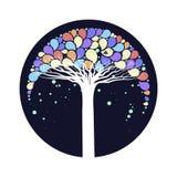 El árbol con las hojas coloridas Imagenes de archivo